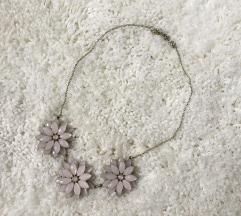 Roza/zlata ogrlica z rozami