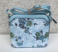 nova modna modra torbica cca.22x20cm