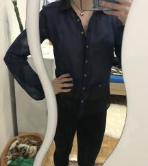 Prosojna modro-crna srajcka