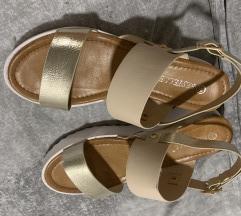 Nude gold sandali
