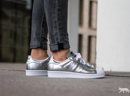 Adidas superstar srebrne superge mpc130