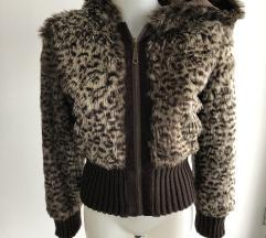Leopard krznena bundica