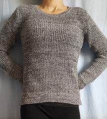 Sivo srebrn pulover H&M, XS