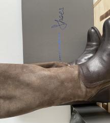 Tosca Blu rjavi usnjeni škornji