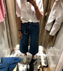 NOVE Stradivarius jeans cullote hlače