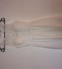 Bela obleka s cipko Tally Weijl