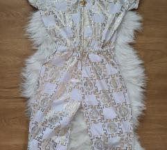 Versace medusa pajac belo zlat S/M