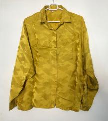Vintage rumena saten srajca