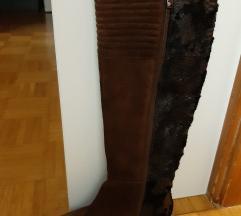 Škornji ženski usnjeni št. 38 Alma Pena