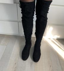 Visoki usnjeni škornji 39