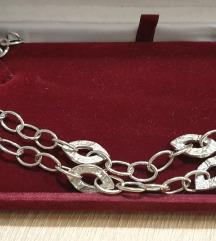 Srebrna dvoredna verižica-pravo srebro 925