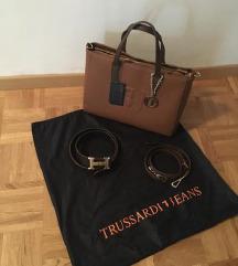 Trussardi rjava torbica + Hermes pas