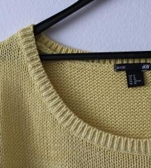 Oversized pulover s 3/4 rokavi ZNIŽANO