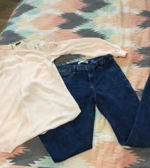 Nove jeans hlače + srajca