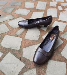 BATA št. 41 pravo usnje rjavi čevlji