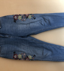 Jeans dolge hlače s potiskom