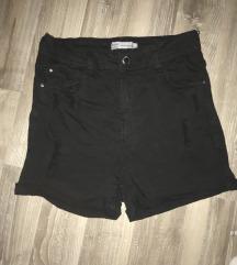 High waist črne kratke hlače