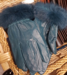 Usnjene rokavice z pravo mucko
