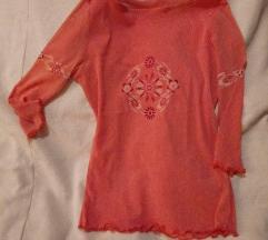 Prosojna 3/4 majica, oranžna barva