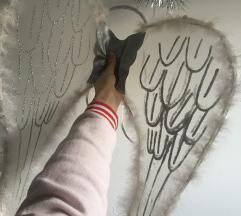 Angelska krila in obroč za lase s sijajem