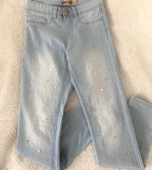 Jeans hlače z dodatki