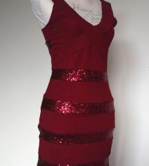 NOVA bordo, vinsko rdeča bandage obleka 👗💎
