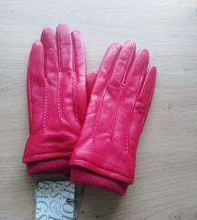 Rdeče usnjene rokavice