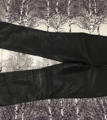 Črne hlače - pravo usnje, št. 38