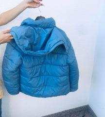 Modra zimska bunda