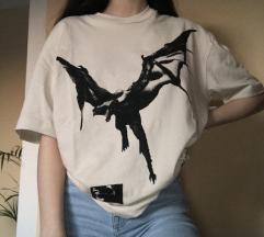 Nova bež H&m x Post Malone kratka majica S