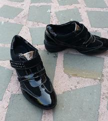 G€OX št. 37 pravo usnje črni čevlji
