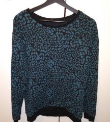 Tigrasta modro črna majica