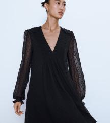 Nova Zara črna obleka