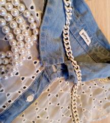 Jeans lace elegantna srajčka PIMKIE