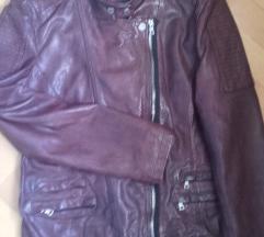NOVO! Derimod bordo usnjena jakna, pravo usnje
