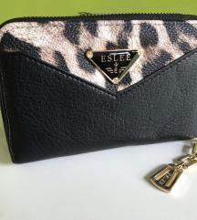 Črna-leopard denarnica