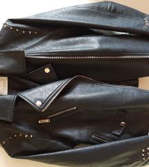 MANGO usnjena jakna