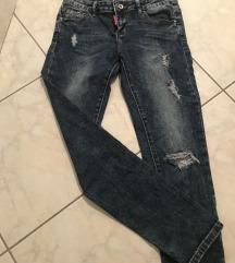 Jeans hlace z nizkim pasom-ppt v ceni