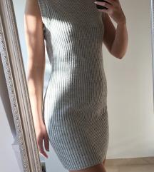 Siva topla kratka obleka