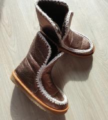 Mou rosegold škornji 38