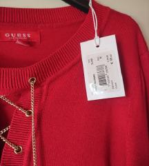 Guess rdeč pulover /NOV (MPC 90EUR)