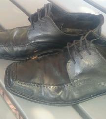Usnjeni moški čevlji *44* ČRNI