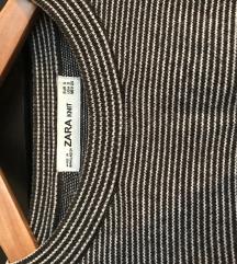 Zara knit črtast crop top