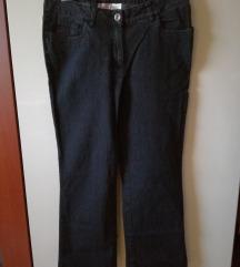 Ž. kavbojke jeans hlače črne 42 vezenina