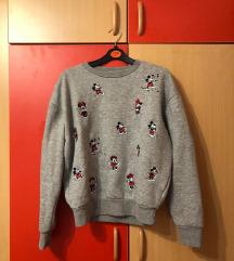 Siv puloverček Micky mouse  🤍