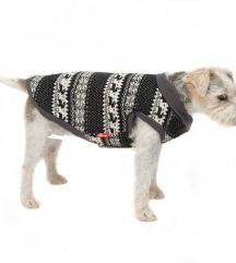 Pasji pulover z norveškim vzorcem