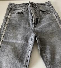 Sive jeans hlače