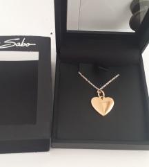 Zlato srce verižica