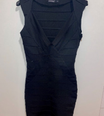 Črna bandage obleka