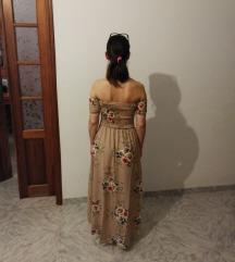 Obleka bohemian s potiskom